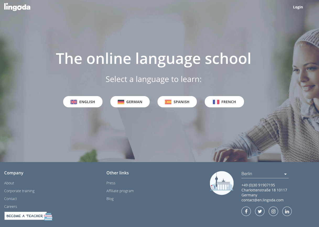 lingoda online language school review