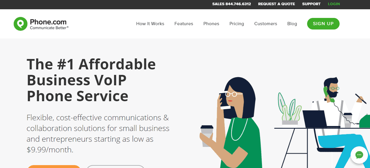 phone.com website and product review