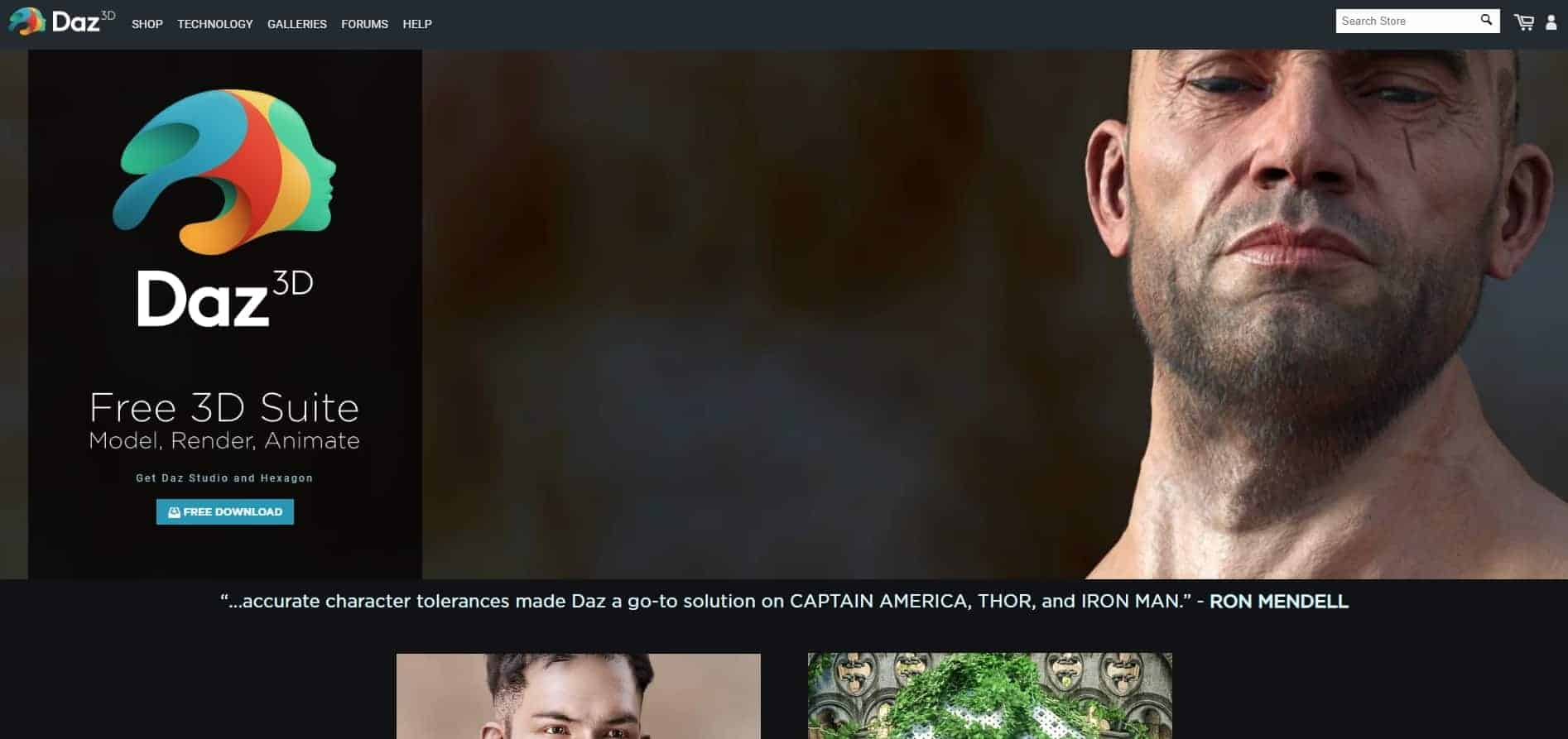 Daz 3D Software and website overview and review
